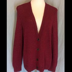 NWT Ralph Lauren V Neckline Button Front Cardigan New with tags, no defects. Beautiful Merlot color. So great for fall. This is a cotton/Poly blend. Ribbed around neckline and front, around the bottom and cuffs. Bust 23 inches flat across the back. Length 27 inches. Ralph Lauren Sweaters Cardigans