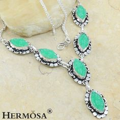 """Dashing Marquise Lace Drusy Quartz 925 Sterling Silver Chain Necklace 18"""", N4 #Hermosa #Choker"""