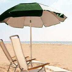 The Frankford Umbrella 6 ft. Tilting Solar Reflective Beach Umbrella with White Aluminum Pole makes life at the beach a whole lot more comfortable. Market Umbrella, Beach Umbrella, Beach Lifeguard, Patio Umbrellas, Pacific Blue, Outdoor Entertaining, Green Stripes, Solar, Souvenirs