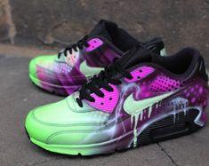 sale retailer 89476 54f71 Custom Nike Air Max 90 Funky Galaxy Colours Graffiti Airbrush Sneaker Art