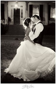Take a picture in your dress and his tux the night of your wedding I front of your new home together..❤