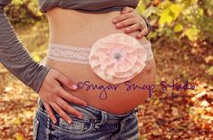 Items similar to Two smaller flowers - Custom Maternity Photography Prop Belly Band - Maternity Belt - Vintage Flower- Photo Prop -Light Pink and Lace on Etsy Pregnancy Band, Pregnancy Photos, Maternity Belt, Maternity Fashion, Maternity Photography Props, Photography Ideas, Pregnancy Photography, Baby Belly, Creative Pictures
