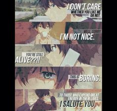 Hyouka houtarou oreki I think we'd get along just fine.