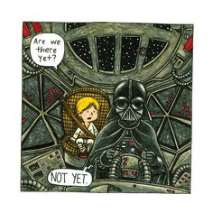 A new graphic novel by Jeffrey Brown looks at the father/son relationship between Luke Skywalker and Darth Vader.