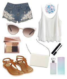"""""""Summer, Summer, Summer"""" by sadsmith ❤ liked on Polyvore featuring Chicwish, Topshop, Calvin Klein, Bobbi Brown Cosmetics, Gucci, Nails Inc., Nine West and sb16"""