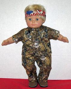 Bitty Baby Doll Clothes Duck Camouflage Set Boots by Dakocreations, $34.99