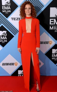 Racy in red: Showcasing her sizzling sartorial style as well as her enviable figure, the L. New Fashion Trends, Fashion Inspiration, Jess Glynne, Robin Wright, Fashion Vocabulary, Red Heads, Girl Crushes, Put On, Lady