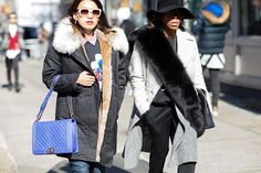 This Old-Lady Accessory Is Coming Back In A Big Way #refinery29  http://www.refinery29.com/furry-snood#slide-4  Furry collars, done two ways....