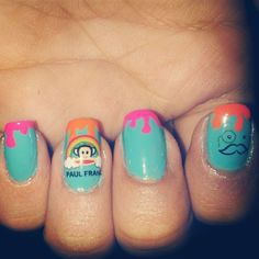 @alejandra1941's #PaulFrank nail art is just the thing to brighten up your Tuesday! We love it!