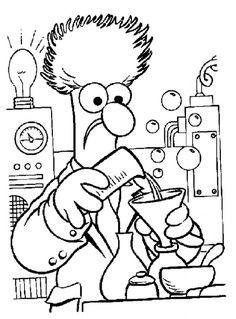 Awesome Coloring Pages For Adults | The Muppets Printable Coloring Pages For Kids and Adults