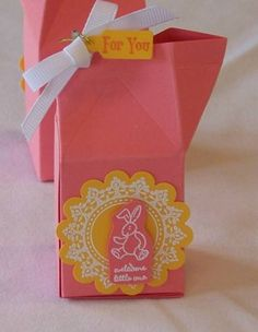 Baby Shower Party Favor Mini Milk Box by stampingwithjudy - Cards and Paper Crafts at Splitcoaststampers