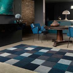 Blue Eden Pixel Rug Living Room BlueDebenhams