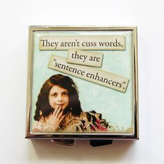 Pill Case Pill Box Funny pill box Cuss Words by KellysMagnets, $13.00