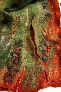 Felted Jackets by Irina Lyubina Nuno Felting, Needle Felting, Felt Wall Hanging, Do It Yourself Jewelry, Felt Pictures, Fibre And Fabric, Textile Fiber Art, Felting Tutorials, Textile Fabrics