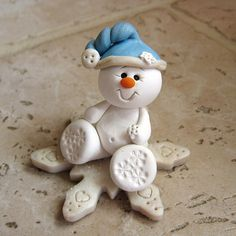 Snowman Snowflake by CLAYIN' AROUND | Polymer Clay Planet