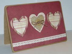 VintageLook Hearts Valentine Card by jenboothe on Etsy, $3.50