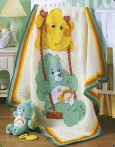 CROCHET CARE BEARS AFGHANS 6 BABY KIDS AFGHANS PATTERNS
