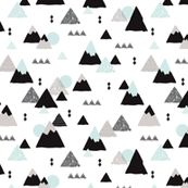Geometric fuji japan mountain illustration winter woodland  by littlesmilemakers