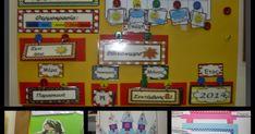 Το ημερολόγιό μας φέτος είναι αυτό: Τις κάρτες μπορείτε να τις βρείτε ΕΔΩ Η ιδέα με τα κρικάκια και τις κρεμαστρούλες είναι απ... School, Frame, Blog, Christmas, Decor, Picture Frame, Xmas, Decoration, Blogging