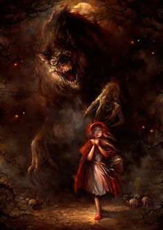 Scariest Little Red Riding Hood rendition, like ever!