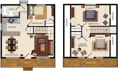 Caledon I Floor Plan 1008 Sq ft. 3 bed