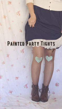 Painted Party Tights // thepapermama.com