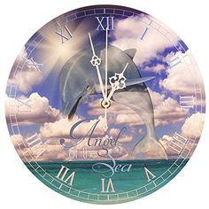 """Reloj de pared, delfín - """"Ángel del Mar"""" (28 cm)"""