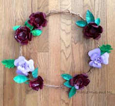 Recently, I was taken with a pressed metal flower and leaf wreath I saw online.  OMG!  Anytime I get a chance to do a knock off of some sort, especially using f…