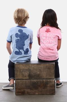 Love these! T-shirts with classic Disney quotes.