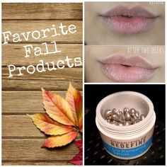Take care of your lips this fall.  Rodan + Fields Redefine Lip Renewing Serum are capsules containing peptides and antioxidants to help lips retain natural moisture and visibly smooth lip texture.  60 day money back guarantee.  Message me on pinterest at R+Fskincare101 for more info.