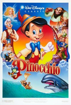 Pinocchio (1940): A living puppet, with the help of a cricket as his conscience, must prove himself worthy to become a real boy (88 mins)  #movie