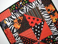 Quilted Table Runner  Halloween Table Runner  by VillageQuilts