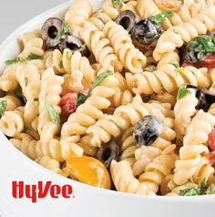 Pasta salads are a party staple, aren't they? Creamy Italian Pasta Salad can be made ahead and it feeds a crowd. And yes, you can add bacon.