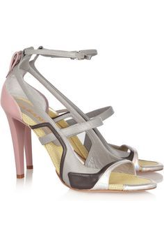 Jil Sander Color-block leather sandals