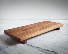 Footed Serving Board Walnut Cutting Board by AdirondackKitchen