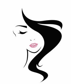 Illustration about Women long hair style icon, logo women face on white background,. Illustration of face, haircut, icon - 74507222 Free Vector Graphics, Vector Art, Female Face Drawing, Motifs Perler, Logo Face, Face Illustration, Silhouette Art, Beauty Art, Woman Face