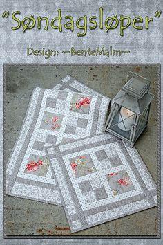 Søndagsløper. Mønster | by ~BenteMalm~ Quilte-Design