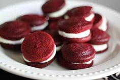 Red Velvet Cake Sandwiches. Uses cake mix.