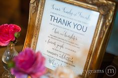 Wedding Reception Thank You Sign  To Our Family & by marrygrams