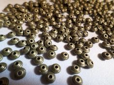 100 x Antique Bronze Plated Spacer Beads - 5mm - Cone