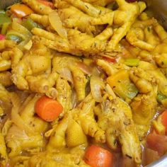 Jamaican Curry Chicken Feet Recipe   Jamaican Foods and Recipes Jamaican Steamed Cabbage Recipe, Jamaican Curry Chicken, Curry Shrimp, Chicken Curry, Keto Chicken, Chicken Foot Soup Recipe, Chicken Recipes, Jamaican Cuisine, Jamaican Recipes