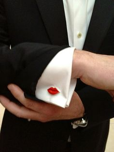 Cuff links - so cute I could kiss them!