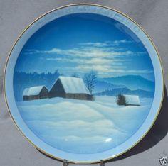 ROSENTHAL-1910-CHRISTMAS-Weihnachten-Plate-Winter-Peace Christmas Plates, Worlds Largest, Peace, Winter, Ebay, Decor, Christmas, Winter Time, Decoration