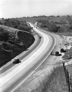 Holt-Garvey Ave heading west along Kellogg Hill (1940) by 47specialdeluxe, via Flickr