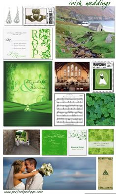 Irish Wedding Inspiration Board  ♥  Repinned by Annie @ www.perfectpostage.com