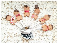 #gingerbread #xmas #cute #spoons #polymerclay #handmade