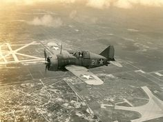 Brewster F2A Buffalo '21' | during a training flight from Naval Air Station (NAS) Miami, Florida.