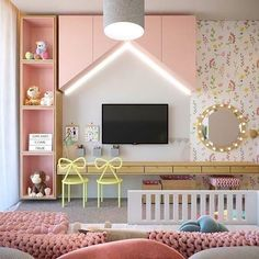 I like this perfect photo - Babyzimmer Kids Bedroom Designs, Kids Room Design, Cute Room Decor, Baby Room Decor, Baby Bedroom, Girls Bedroom, Deco Kids, Kids Bedroom Furniture, Furniture Nyc