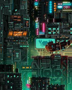 Cyberpunk by Bomb998. Cyberpunk Kunst, Cyberpunk City, Uicideboy Wallpaper, Pixel City, Arte 8 Bits, Pixel Art Background, 8 Bit Art, Pixel Art Games, Vaporwave