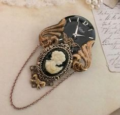 Victorian Style or NeoVictorian Cameo Brooch by FromABygoneTime, $30.00